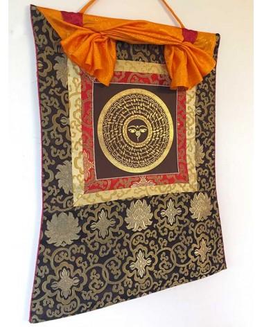 """Thangka """"Bouddha Eye-Mantra"""""""